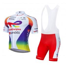 Ensemble cuissard vélo et maillot cyclisme équipe pro TotalEnergies 2021 Aero Mesh
