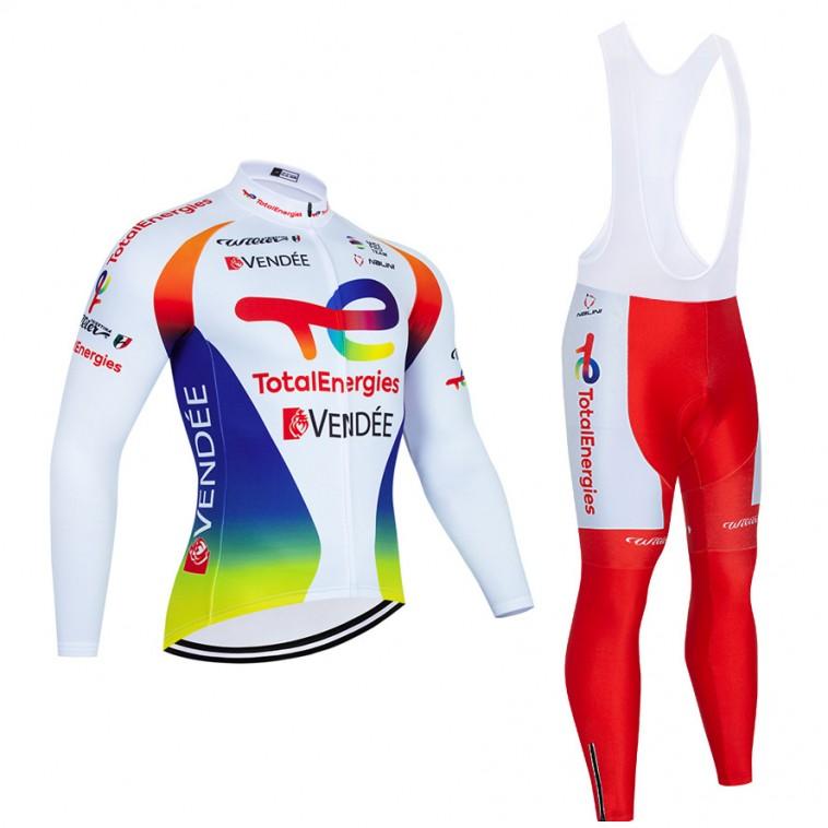 Ensemble cuissard vélo et maillot cyclisme hiver pro TotalEnergies 2021