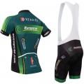 Ensemble cuissard vélo et maillot cyclisme équipe pro Europcar
