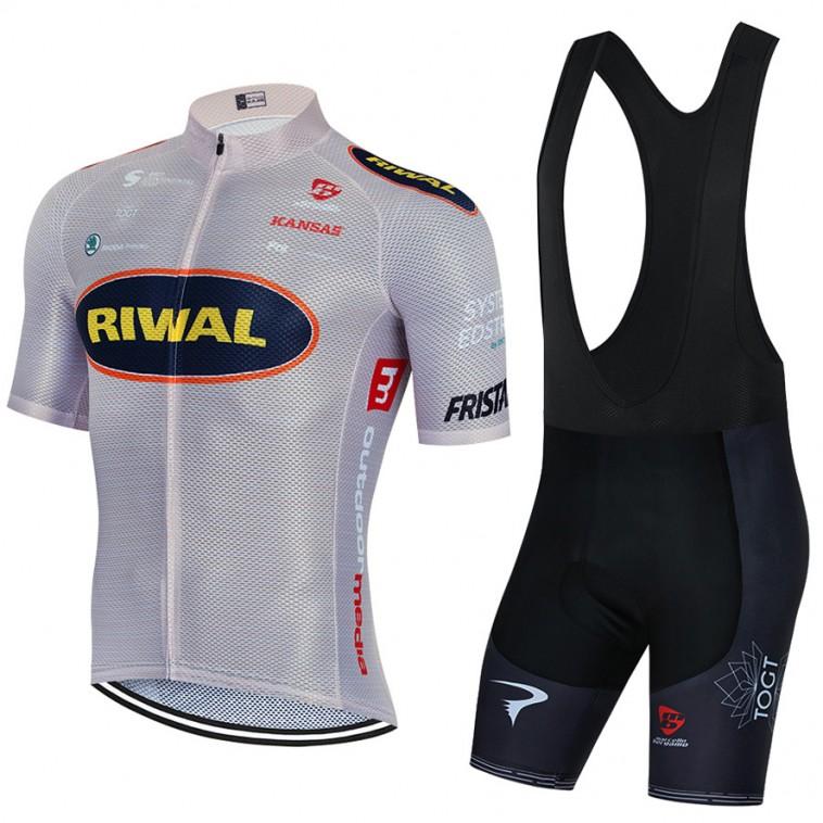 Ensemble cuissard vélo et maillot cyclisme équipe pro RIWAL 2021 Aero Mesh
