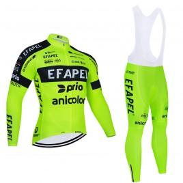 Ensemble cuissard vélo et maillot cyclisme hiver pro EFAPEL 2021