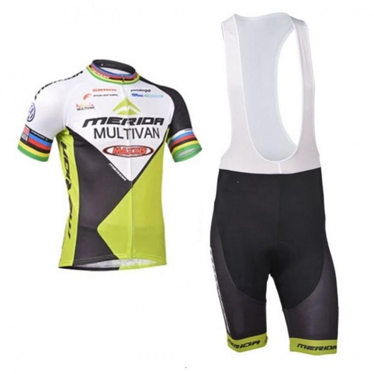 Ensemble cuissard vélo et maillot cyclisme équipe pro Merida Multivan