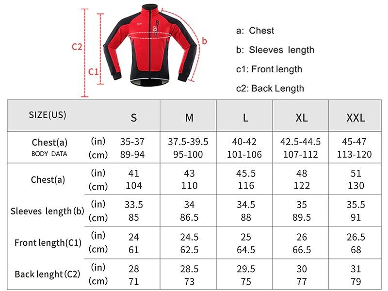 Guide taille veste thermique